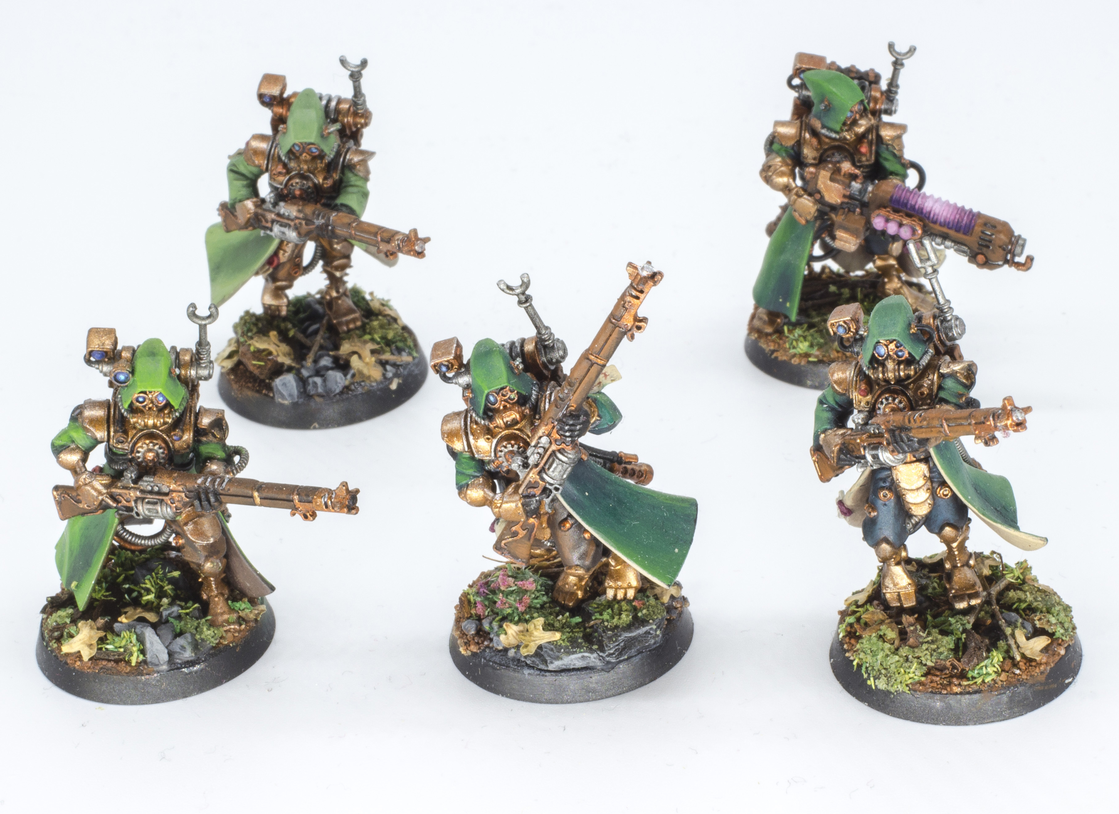 Skitarii forestiers. Ou comment se mettre au vert.